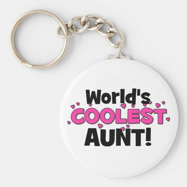 World's Coolest Aunt! Keyring