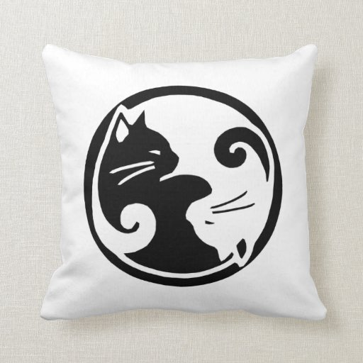 Yin Yang Cats Cushion