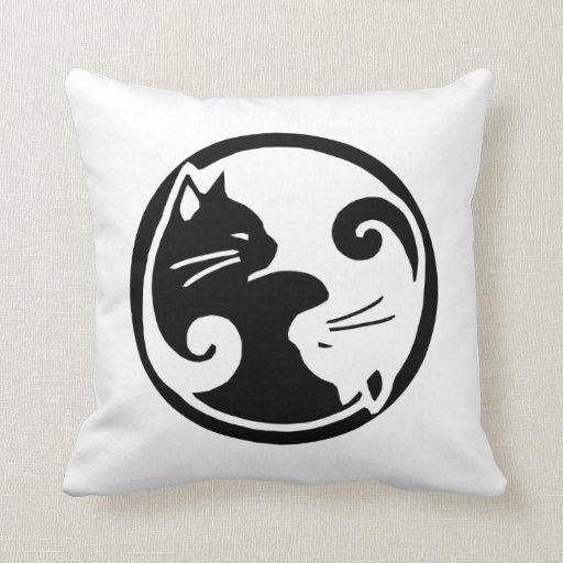 Yin Yang Cats Cushion