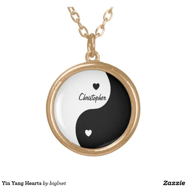 Yin Yang Hearts Just Add Name Necklace