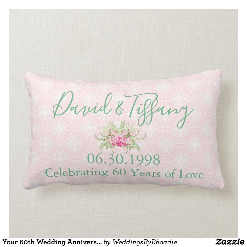 Your 60th Wedding Anniversary Lumbar Cushion
