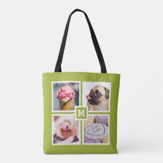 YOUR 8 PHOTOS TOTE BAG