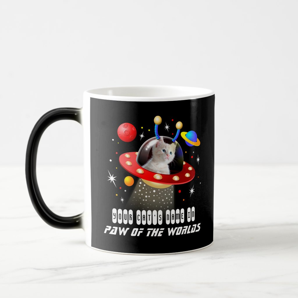 Your Cat in an Alien Spaceship UFO Sci Fi Film Magic Mug