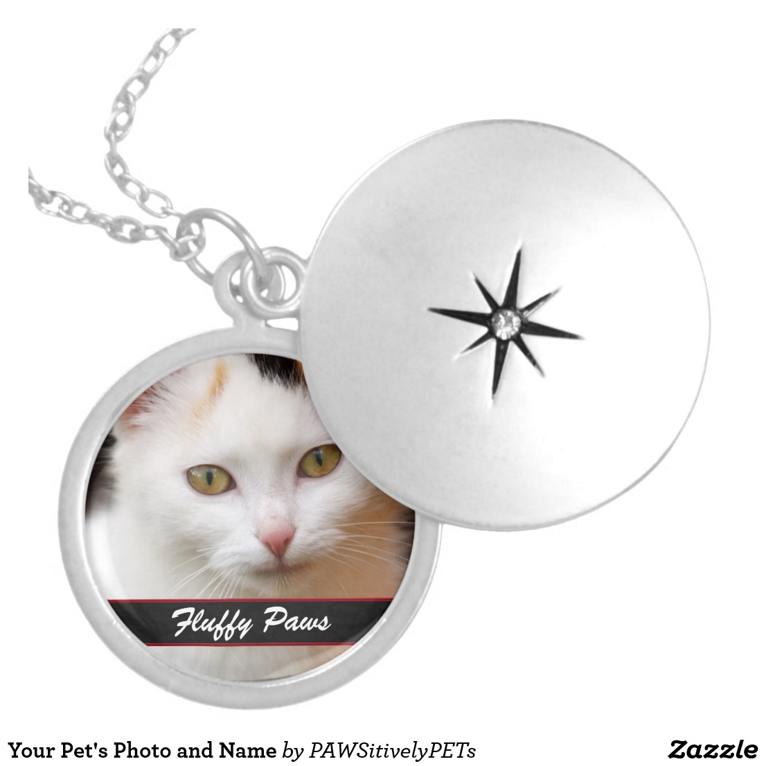Your Pet's Photo and Name Necklace
