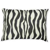 Zebra stripes pattern dog bed