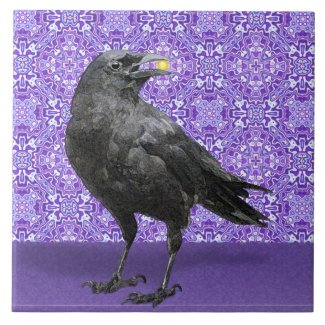 Black Crow purple pattern tile