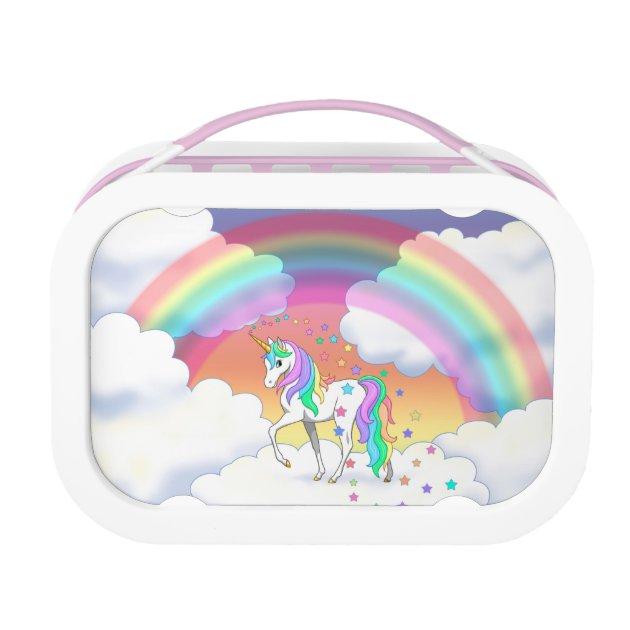 Colourful Rainbow Unicorn And Stars Lunch Box Au