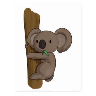 Koala Cartoon On Tree