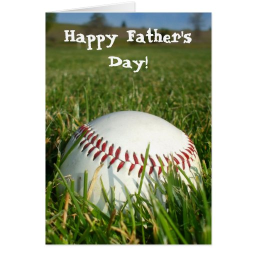 Happy Father's Day Baseball greeting card | Zazzle