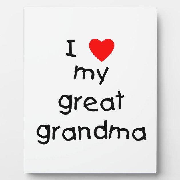Download I love my great grandma photo plaque | Zazzle