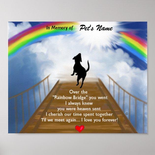 Rainbow Bridge Memorial Poem For Dogs Poster Au