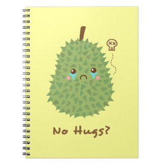 Sad Durian that gets no hugs Spiral Note Book