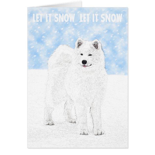 Samoyed Christmas Card Au