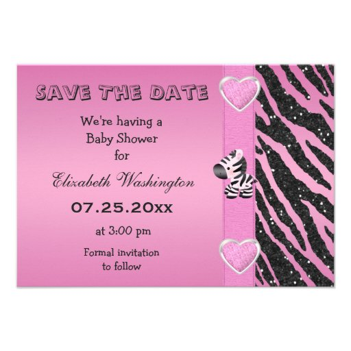 Save Date Baby Shower Invitations