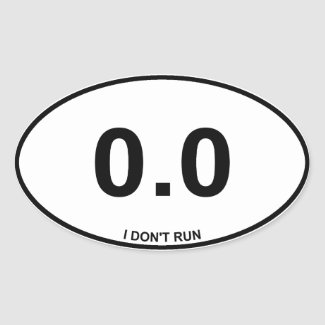0.0 Non Runner Oval Stickers
