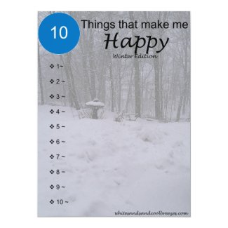 10 Things that make me Happy - Winter Card
