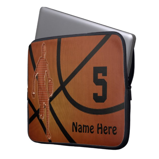 10 to 15 inch Basketball Laptop Case NAME, NUMBER Computer ...