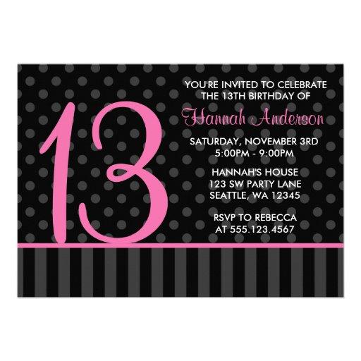 Birthday Invitations 13th