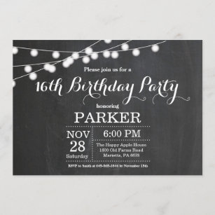 boys sweet 16 invitations zazzle