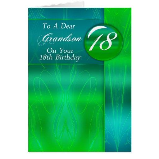 18th Birthday Grandson Modern Card Zazzle