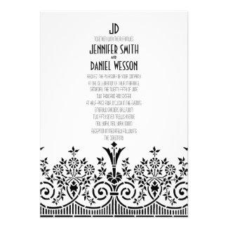 1920s Theme Wedding Invitation Template
