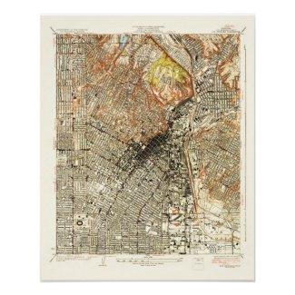 1928 Map of Los Angeles--Archival Paper Print