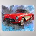 1957 Corvette print