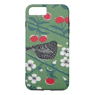 1960s Bird Cherry Vintage Barkcloth Phone Case