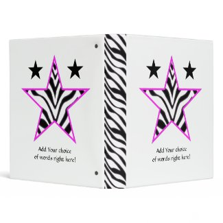 "1"" Avery: Zebra Star Binder"