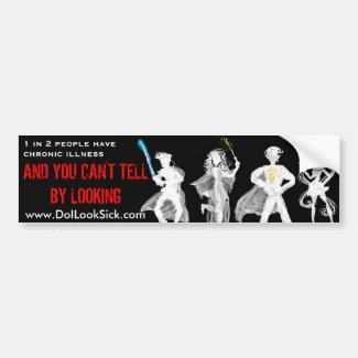 1 in 2 Cosplayers Invisible Illness Bumper Sticker
