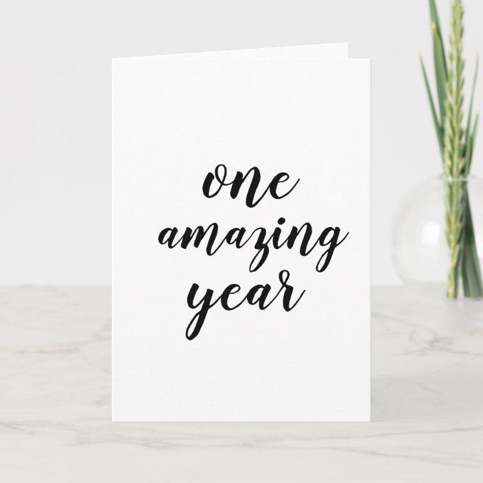 1st Anniversary Card One Year Anniversary Card Zazzle Com