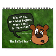 2014 Mysterious Questions of Baffled Bear Humor Wall Calendar