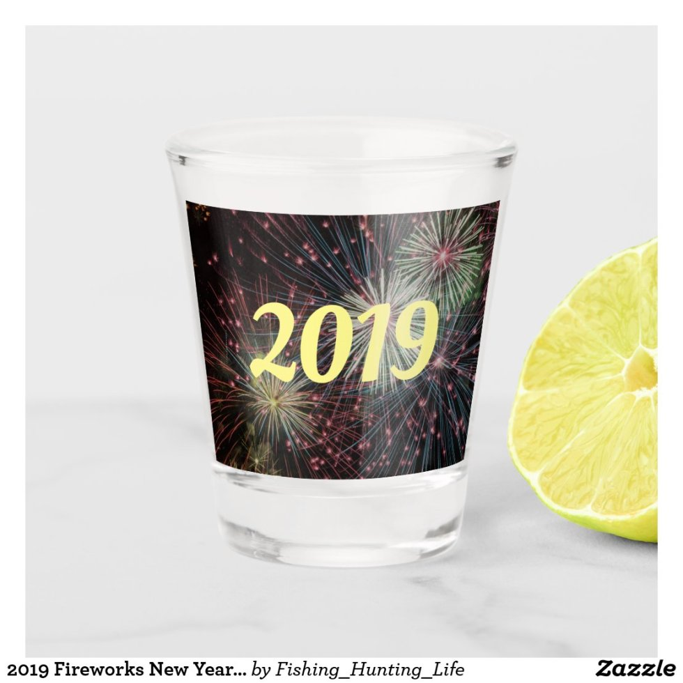 2019 Fireworks New Years Party Shot Glass