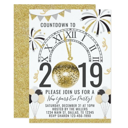 2019 New Years Party Invitation Invite