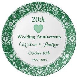 20th Wedding Anniversary Emerald Green W20B