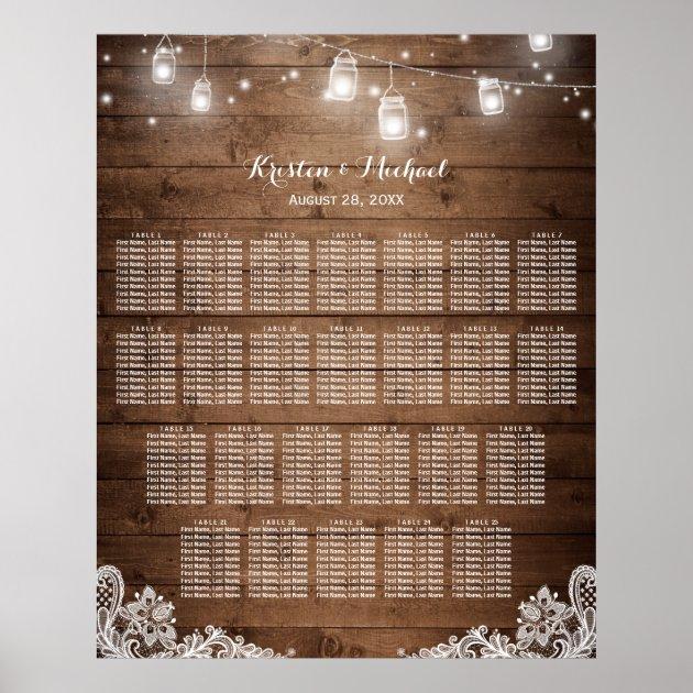 wedding seating chart posters mimoprints