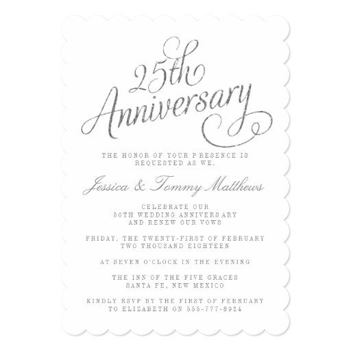 Related Image For Personalized 25th Wedding Anniversary Invitations