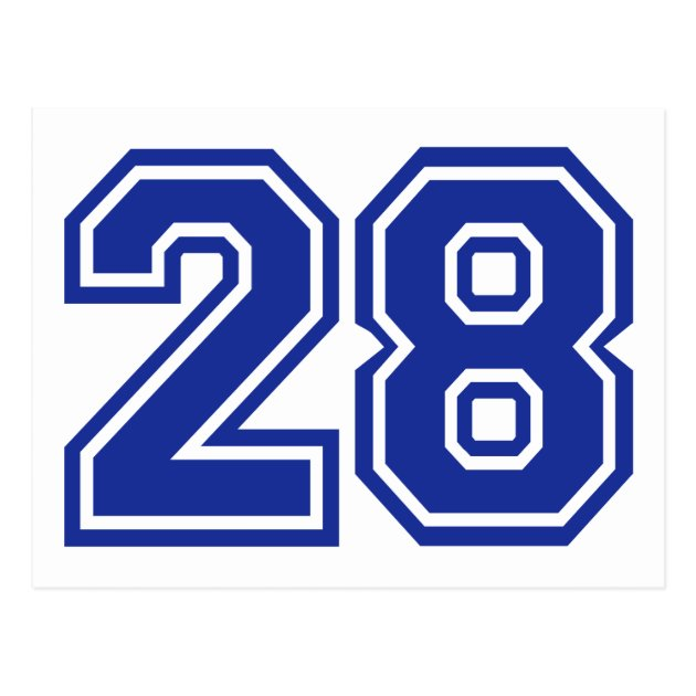 28 Number Postcard Zazzle