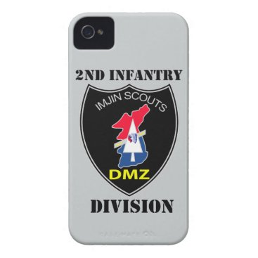 2nd Infantry Division - Imjin Scouts With Text iPhone 4 Case-Mate Case