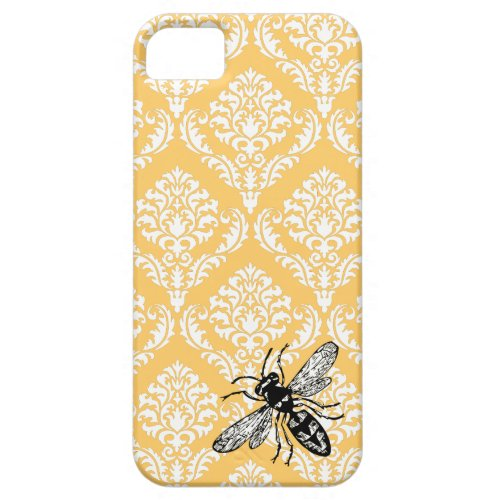 311 Yellow Damask Bee Hornet iPhone Cover