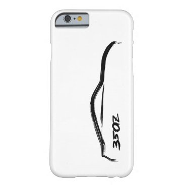350z Black Silhouette Logo with white background Barely There iPhone 6 Case