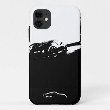 350Z Rolling Shot with White Brushstroke logo iPhone 11 Case