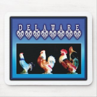 3 Delaware Chickens Mousepads