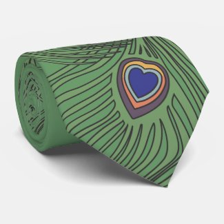 3 Feathers Peacock Tie For Weddings tie
