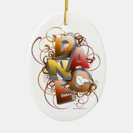 3D Dance (Fall) Ceramic Ornament