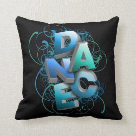 3D Dance (Spring) Throw Pillow