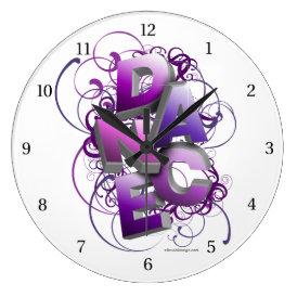 3D Dance (summer) Large Clock