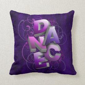3D Dance (Summer) Throw Pillow
