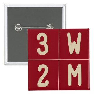 3W2M 4-Up Square Button