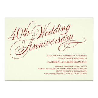 Cute 40th Wedding Anniversary Invitations 59 Inspiration With